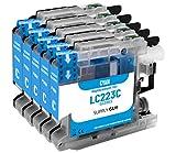 5 cartucce per stampanti con chip compatibile Brother LC223 Ciano per Brother MFC-J5320DW MFC-J5620DW MFC-J4420dw MFC-J480DW DCP-J4120DW DCP-J562DW e altro (vedi pagina del prodotto)