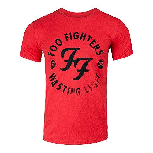 Foo Fighters–Wasting Light Banda–Camiseta, Color Rojo Rojo Small
