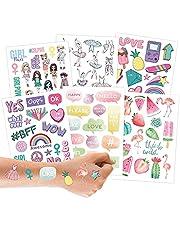 100 metallic tattoos om op te plakken - huidvriendelijke kindertattoos - coole designs - als verjaardagscadeau of cadeau-idee - veganistisch - TÜV-getest