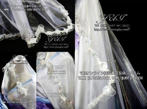 『妖狐×僕SS いぬぼく 雪小路野ばら 雪女着物 和服 コスプレ衣装 yy503(男性Lサイズ)』の1枚目の画像