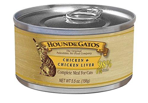 Hound & Gatos Pet Food Chicken Formula Canned Cat Food, 5.5 Oz.,...