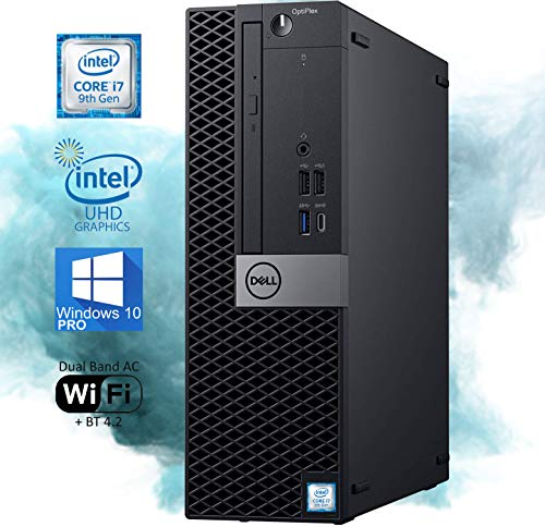 Dell OptiPlex 7070 SFF Desktop Computer – 9th Gen Intel Core i7-9700 Upto 4.7 GHz 4K Monitor Support DisplayPort, HDMI, DVD - 32GB RAM 1TB NVMe SSD, AC Wi-Fi, Bluetooth - Windows 10 Pro