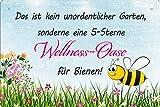 Geschenkeparadies 24 Blechschild 5 Sterne Wellness Oase