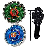 LINKDOO Metal Fusion L-Drago Poison Serpent SW145SD Metal 4D High Performance BB-69 and BB-28 Storm Pegasus 105RF Battling Tops Toys with Ruler Power Launcher+Grip Set