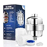 Baskiss 15-Stage Shower Filter, Showerhead Water Filter, Chlorine Filter, Hard Water Filter, 2