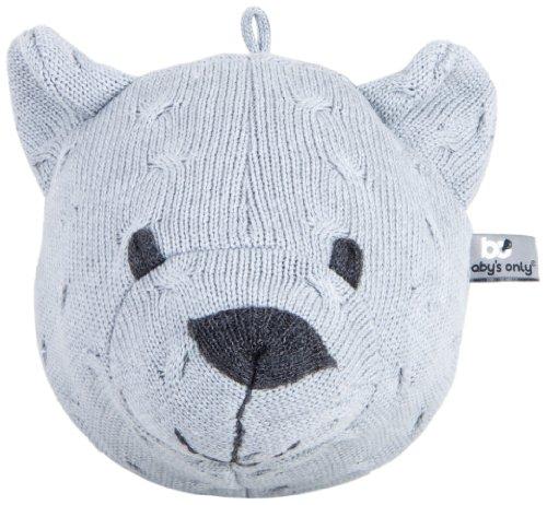 Baby's Only Trophée tête d'ours, Collection Tricot Uni - Gris