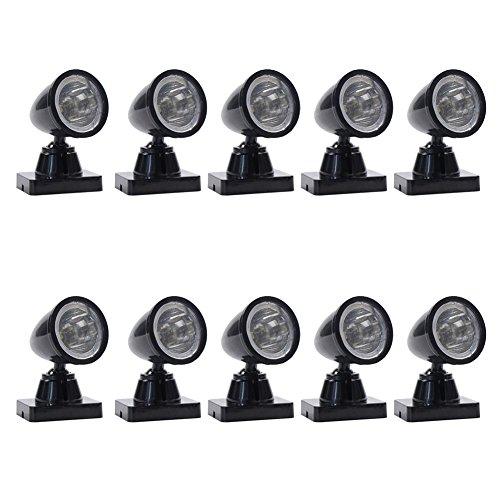 Evemodel LYC18 10 STK. LED Wegeleuchte Flutlichtstrahler nieder LED 42mm 3V Spur G / 1 Spot Lampe NEU