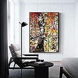 Puzzle 1000 Piezas Arte de Graffiti Pintura Arte Colorido Retrato Moderno decoración Puzzle 1000 Piezas paisajes Rompecabezas de Juguete de descompresión Intelectual Rompecab50x75cm(20x30inch)