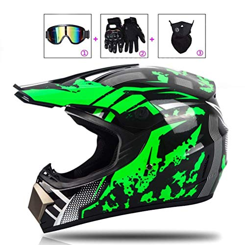 LEENY Cascos de Motos Motocross Motocicleta DH Off-Road Enduro Downhill Dirt Bike...