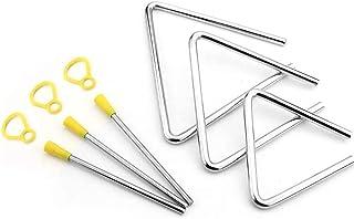 Triángulo Instrumento, 3 Piezas Triángulo Musical Instrumento, Triángulo Percusión Instrumentos Musicales, triángulos de p...