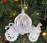 Christmas Concepts® 10cm Brillo Decorado Princesa Carruaje Decoración (Iridiscente,...