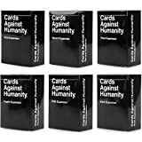 OFFICIAL: First, Second, Third, Fourth, Fifth and Sixth Expansions ORIGINAL: Contains 672 of the most classic cards we've ever written CUSTOM: 72 blank cards that you can ruin your game with your shitty jokes Absurd and Green Boxes not required, thou...