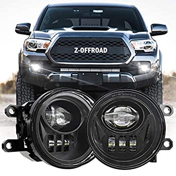 Z-OFFROAD New LED Fog Lights for 2016-2019 Tacoma 2014-2019 4Runner 2014-2019 Tundra Truck Driving Lamps Assembly Replacement w/Bracket Driver and Passenger Side- Black