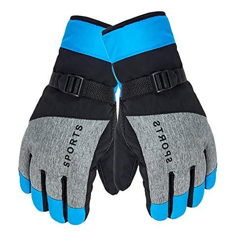 Qiuday Skihandschuhe Herren wasserdichte und Winddichte Handschuhe, Kälteschutz in Winterzeit, Leicht und Strapazierfähig, Geeignet für Outdoor-Sport wie Skifahren und Radfahren