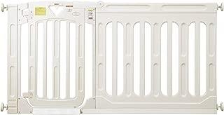日本育児 スマートゲイトⅡ ミルキー + ワイドパネルミルキー XLサイズセット 【取付け幅163~187cm対応】