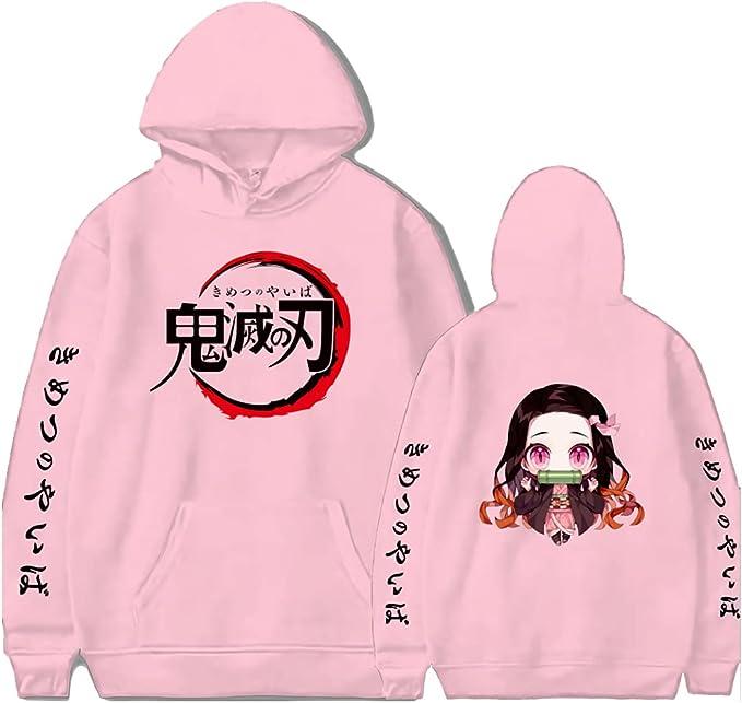 Anime Hoodie Cartoon Sweatshirt Hoodies Hooded Pullover Casual Sweatshirts Tracksuit Top with Pocket for Teen Unisex