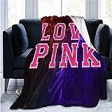 St. Valentines' Day Gift Victoria Secret Love Pink Adult Kids Fleece Blanket Throw Blanket Movies Fleece Blanket 60'x50'