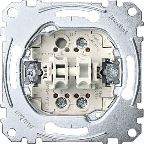 Merten MEG3515-0000 Serienschalter-Einsatz, 1-polig, 16 AX, AC 250 V, Schraub-Liftklemmen