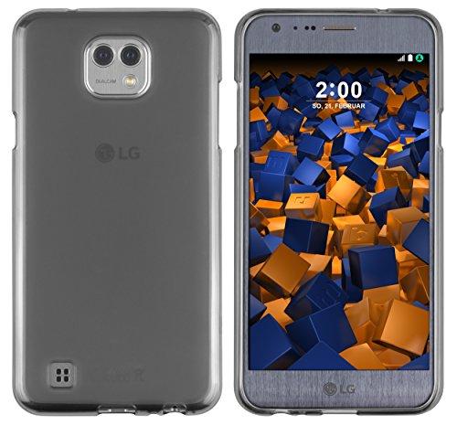 mumbi Hülle kompatibel mit LG X Cam Handy Hülle Handyhülle, transparent schwarz