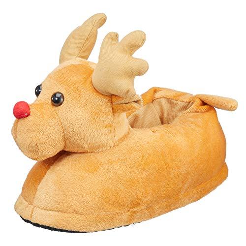 Preis am Stiel Hausschuhe Rentier   Weihnachten   Pantoffel   Fabelwesen