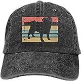 ZYC-WF Gorra de béisbol Hombres Mujeres, la vendimia amasado vector de algodón para hombre ajustable dril de algodón del sombrero del casquillo