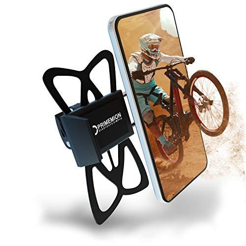 PRIMEMION - Extrem Robuste Handyhalterung Fahrrad & Motorrad | Universal Fahrrad Handyhalterung | 360° Motorrad Handyhalterung mit Schnellspanner