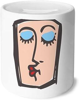 DIYthinker Abstract besar Bosquejo de la Cara Emoticonos Caja de Dinero de Las Cajas de ahorros de cerámica Adultos Moneda de la Caja para niños