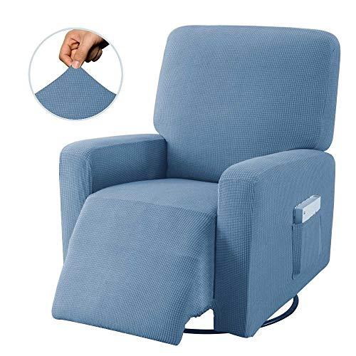 Stretch Sofa Cover Recliner Chair Cover Protector Non-Slip Elastic All-Inclusive Massage Sofa Armchair Chair Furniture Protector (Without Sofa)-C