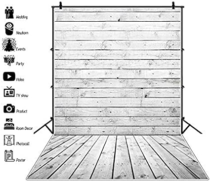 10x15ft Vinyl Wood Photography Backdrops Indoor Outdoor Old Shabby Wooden Floor and Wall Weathered Curved Wood Texture Stripe Grunge Abstract Background Newborn Portrait Photo Booth Studio Prop