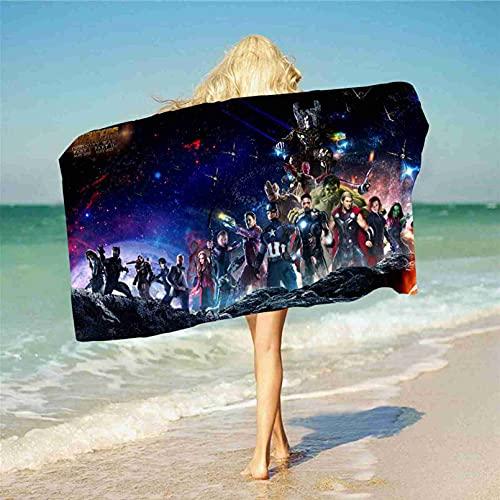 LXTOPN - Toalla de playa para niños, diseño de Los Vengadores en 3D