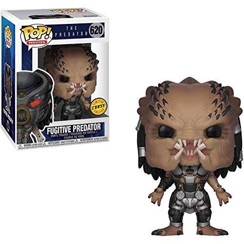Funko Fugitive Predator (Chase Edition): Predator x Pop! Películas Figura de Vinilo y 1 Paquete Protector gráfico Ultimate Guard