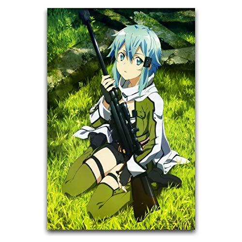 Sword Art Online, Sao, Asada Shino figuras de anime en lienzo, decoración de pared, 30 x 45 cm