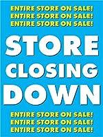 Store Closing Down Retail Display Sign 18w x 24h 5 Pack [並行輸入品]