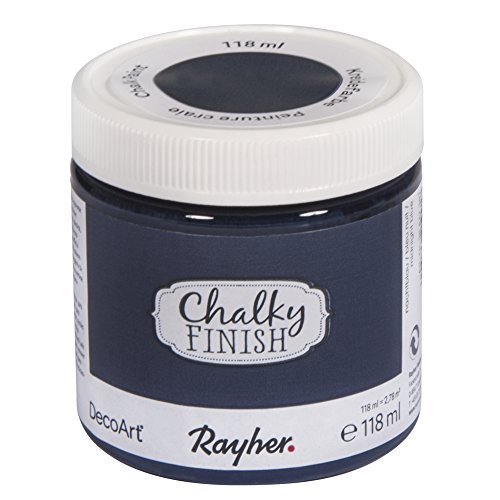 Rayher 38867387 Chalky Finish, nachtblau, Dose 118ml