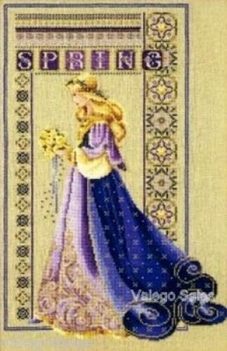 Lavender & Lace Counted Cross Stitch Pattern Chart - Celtic Spring