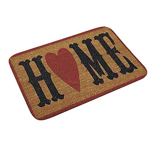 LANGMAN Indoor Doormat Front Door Mat Non Slip Mats Machine Washable Rug Carpet 60x40cm (E)