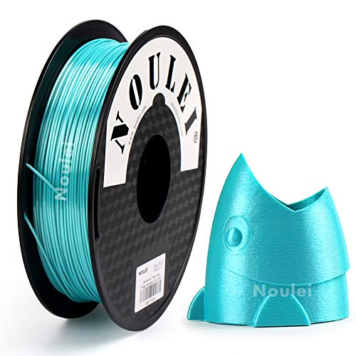 Noulee, filamento PLA Shiny da 1,75 mm, blu Silk Blue, per stampante 3D, 500 g