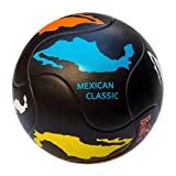 Bend-It Millenti Mexican Classic Soccer Ball - Black Blue Orange White Yellow Size 5 for Indoor/Outdoor Training