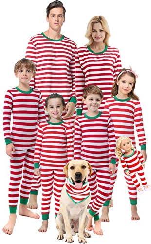 Matching Family Christmas Boys Girls Pajamas Striped Kids Sleepwear Children Clothes Size 6 product image