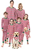 Matching Family Christmas Boys Girls Pajamas Striped Kids Sleepwear Children Clothes Size 2