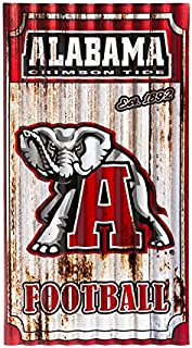 Team Sports America Alabama Crimson Tide Corrugated Metal Wall Art
