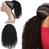Morningsilkwig Afro Kinky Curly Drawstring Ponytail 4B 4C Afro Kinky Curly Capelli Umani Ponytail Per Donne Nere Colore Naturale