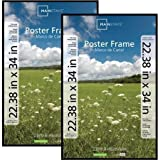Classic Styles Mainstays Decor 22x34 Basic Poster & Picture Frame, Black, Set of 2 by Mainstays Decor