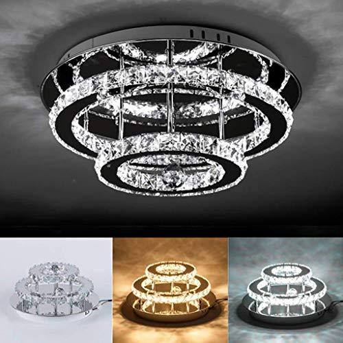 LED Kristall Deckenleuchte Fernbedienung Dimmbar 30W Deckenlampe Modern Kronleuchter Pendelleuchte Hängeleuchte Für Wohnzimmer Küchen Schlafzimmer Esszimmer Beleuchtung Dekoration Deckenbeleuchtung