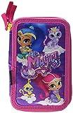 Cerdá Nickelodeon Shimmer and Shine 2700000243, Astuccio 3 Scomparti, Bambina, 19cm, 43 Accessori Scuola