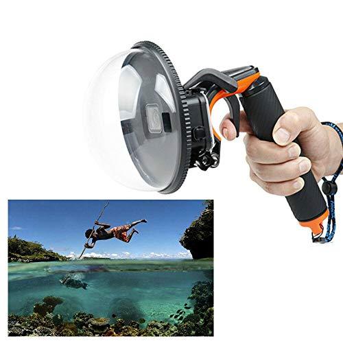 HaroldDol - Puerto Domo para cámara GoPro Hero 5/6/7, cámara subacuática, Domo subacuático con Carcasa Impermeable, asa Flotante con Correa de Mano y Disparador