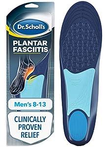 Dr. Scholl's - Ortopédicos para aliviar el dolor de la fascitis plantar para hombre, 1 par, talla 36-38