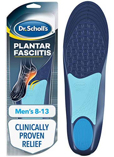 Dr. Scholl's Plantar Fasciitis Pain Relief Orthotics, Clinically Proven Relief and Prevention of Plantar Fasciitis Pain (for Men's 8-13, Also Available for Women's 6-10)