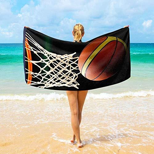 HSHY Toallas de Playa Baloncesto Pasando por el aro Microfibra Grande para niños Adultos 94x188 cm Toalla de Viaje súper Absorbente Ligera y de Secado rápidoHshy