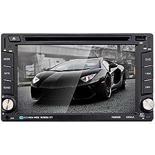 """Asiproper 6.2"""" Bluetooth 2 Din HD Car DVD/USB/SD Touch Screen Player:Deepld"""